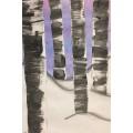Forêt hivernale - projet d'arts plastiques