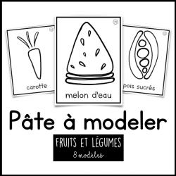 Pâte à modeler - fruits et légumes