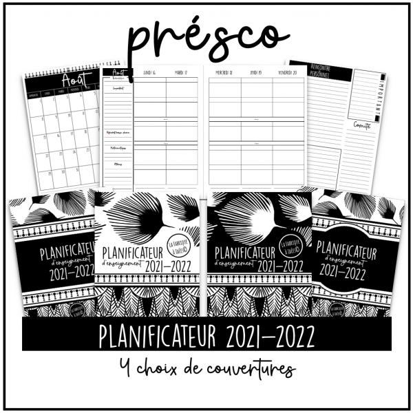 Planificateur 2021-2022 - Préscolaire