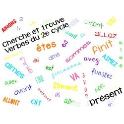 Cherche et trouve conjugaison présent 2e cycle