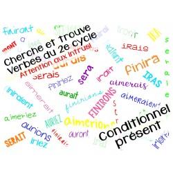 Cherche et trouve conjugaison conditonnel 2e cycle