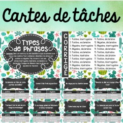Cartes de tâches - Type de phrases