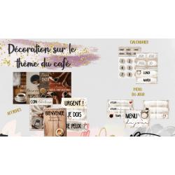 Décorations de classe - Thème du CAFÉ