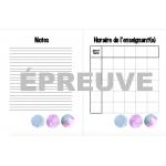 Planificateur hebdomadaire/semaine (aquarelle)