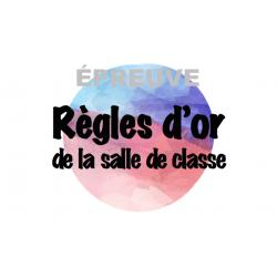 Règlements de la classe (affiches secondaire)