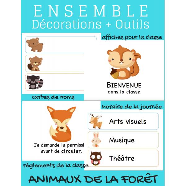 Décorations pour le primaire (animaux de la forêt)