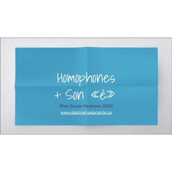 Homophones a/à, on/ont et le son « é »