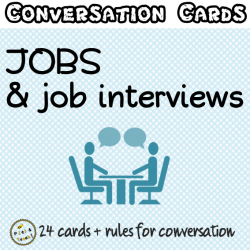 Jobs & job interviews - Conversation cards