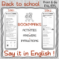 Say it in English - Bookmark