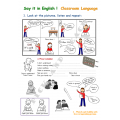 Say it in English - Classroom language - beginners
