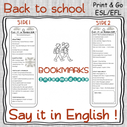 Classroom English – BOOKMARK – Intermediate