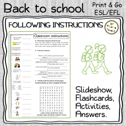 Classroom English - FOLLOWING INSTRUCTIONS