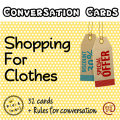 Shopping for clothes – Speaking cards