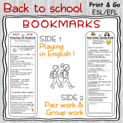 Playing in English – BOOKMARKS