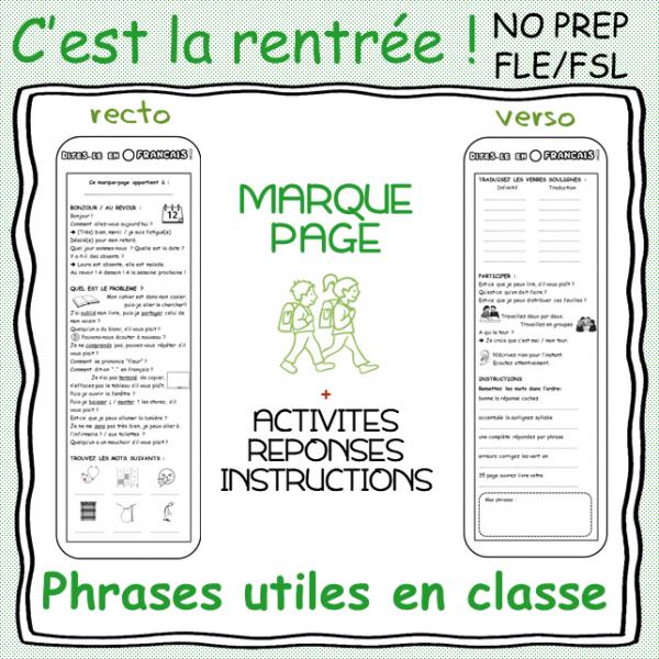 Les phrases utiles en classe !