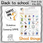 SCHOOL SUPPLIES – 2 speaking activities