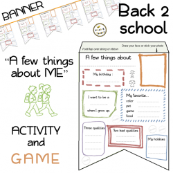 """A few things about ME"" banner - Activity and game"