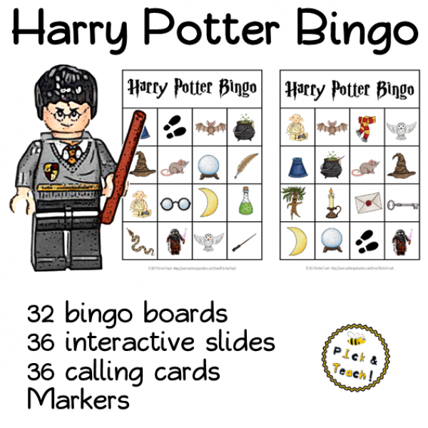 Harry Potter BINGO - IN ENGLISH