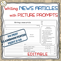 Writing NEWS ARTICLES with PICTURE PROMPTS