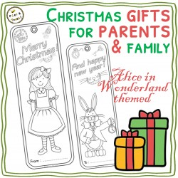 Alice crafty bookmarks for parents – Xmas gifts