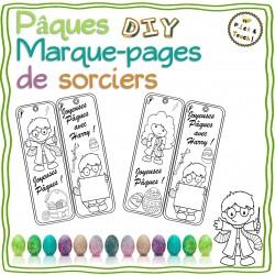 PAQUES, Marque-pages Harry à colorier