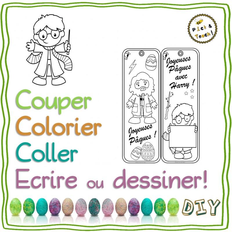 Paques Marque Pages Harry A Colorier