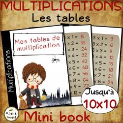 Tables de multiplication =>10- FRANCAIS/ANGLAIS