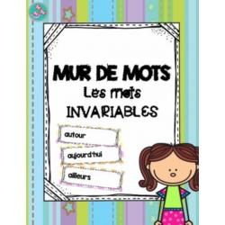 Mur de mots : mots invariables