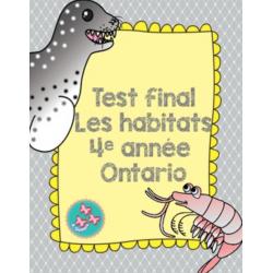 Test final : Les habitats