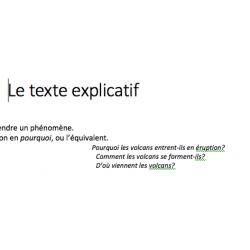Notes de cours : le texte explicatif