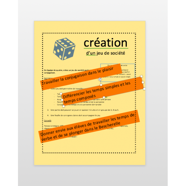 Creation D Un Jeu De Conjugaison