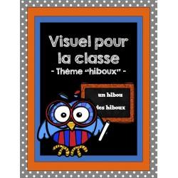 """Affiches classe - Thème """"hiboux"""""""