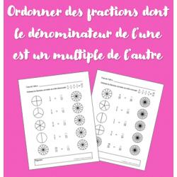 Ordonner des fractions (dénominateurs différents)