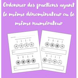 Ordonner des fractions (même numérateur ou dén.)