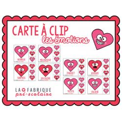Carte à clip - les émotions de la St-Valentin