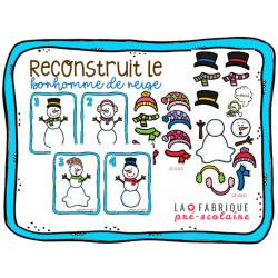Reconstruit le bonhomme de neige