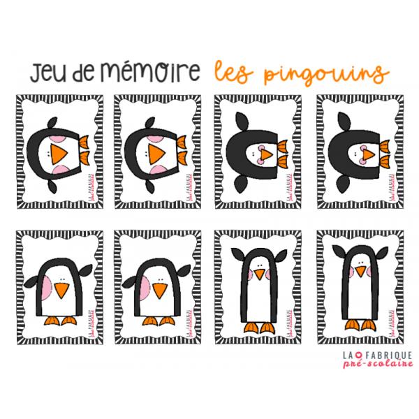 Jeu de mémoire - les pingouins