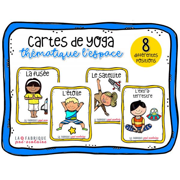 Cartes de yoga - l'espace
