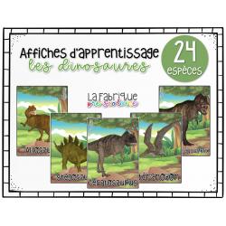 Affiches d'apprentissage - les dinosaures