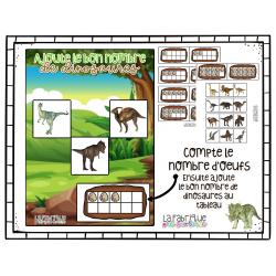 Ajoute le bon nombre de dinosaures