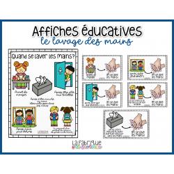 Affiches éducatives - Quand se laver les mains