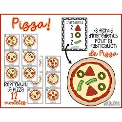 Jeu de la pizza - reproduit et construit la pizza