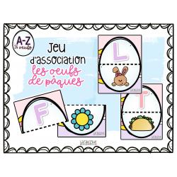 Alphabet oeufs de pâques - jeu d'association