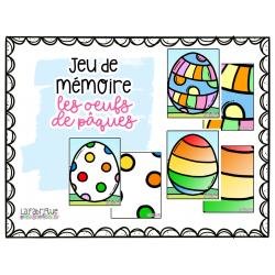 Jeu de mémoire - les oeufs de Pâques