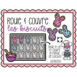 Roule & couvre les biscuits de coco lapin