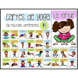 Cartes de yoga, série #1