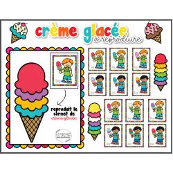 Reproduit le cornet de crème glacée