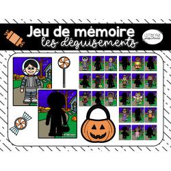 Jeu de mémoire, les déguisements Halloween