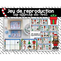 Jeu de reproduction, les effaces de Noël