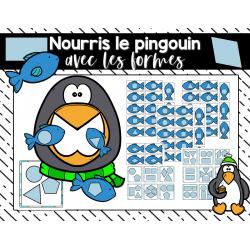 Je nourris le pingouin avec les formes